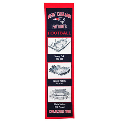 New England Patriots Stadium Evolution Banner