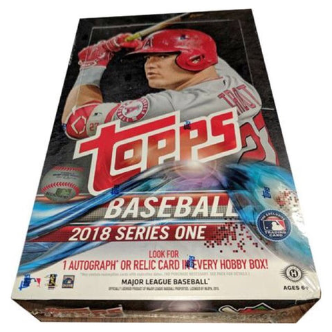 MLB: Topps Baseball 2018 Series 1 Hobby Trading Cards (6 Packs)