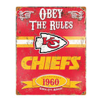 Kansas City Chiefs Obey the Rules Sign