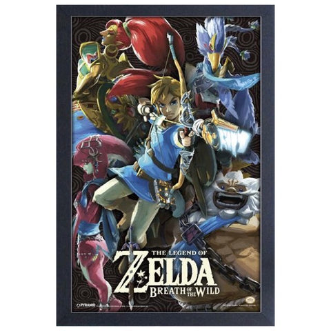 Zelda - Breath of the Wild Champions Framed Print