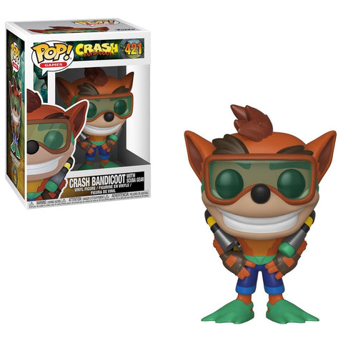 Games: Crash Bandicoot 421 with Scuba Gear POP Figure