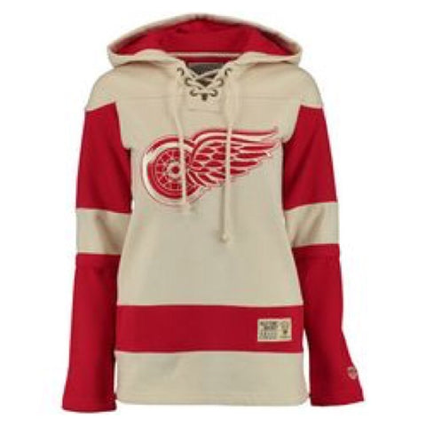 Detroit Red Wings Vintage Lacer Fleece Hoodie