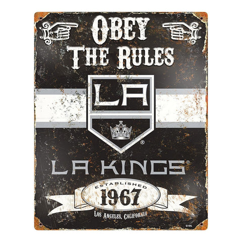 Los Angeles Kings Obey the Rules Sign