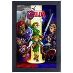 Zelda - Ocarina of Time Characters Framed Print