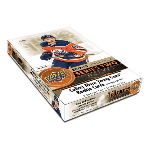 NHL: Upper Deck 2017-18 Series 2 Hobby Trading Cards (6 Packs)