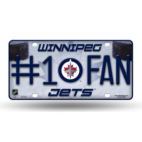 Winnipeg Jets #1 Fan License Plate