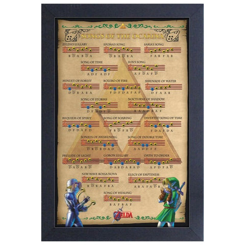 Zelda - Ocarina of Time Songs Framed Print