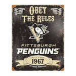 Pittsburgh Penguins Obey the Rules Sign