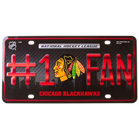 Chicago Blackhawks #1 Fan License Plate