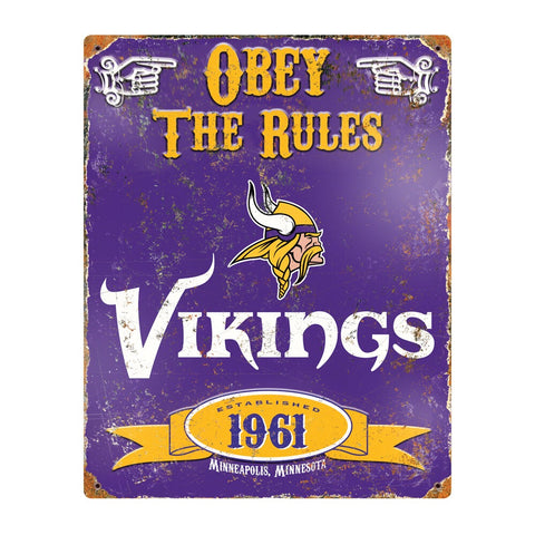 Minnesota Vikings Obey the Rules Sign