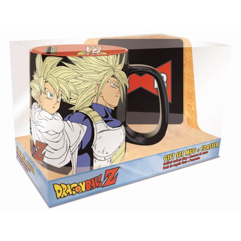 Dragon Ball Z- Z Fighters vs. Androids & Cell Mug & Coaster Set