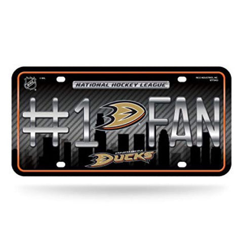 Anaheim Ducks #1 Fan License Plate