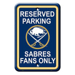 Buffalo Sabres Reserved Parking Sign