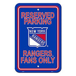 New York Rangers Reserved Parking Sign