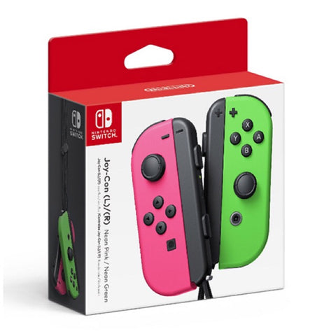 Neon Pink/Neon Green Joy-Con Controller for Switch