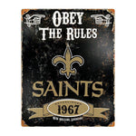 New Orleans Saints Obey the Rules Sign