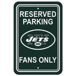 New York Jets Reserved Parking Sign