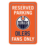 Edmonton Oilers Reserved Parking Sign