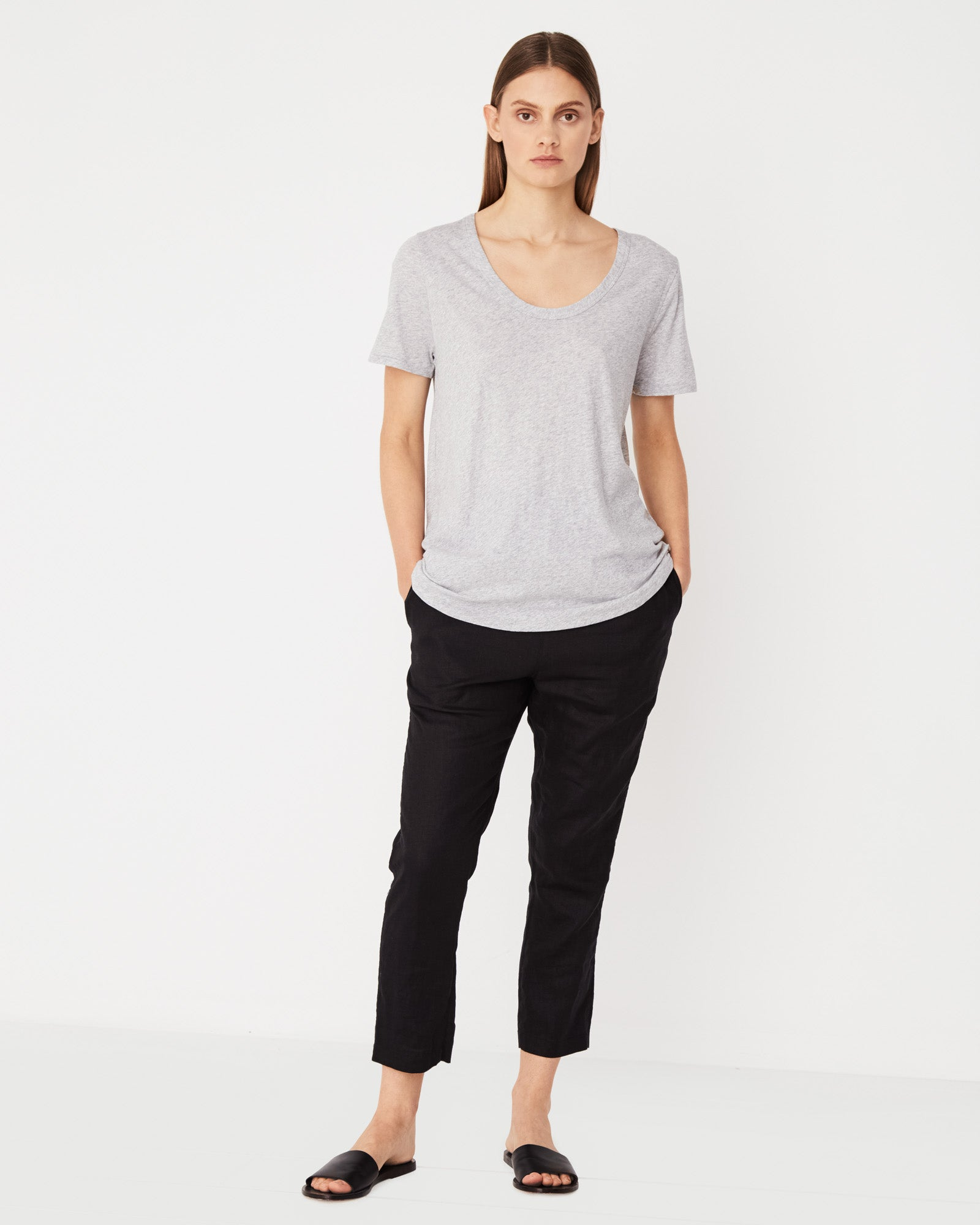 Soft V Tee Grey Marle