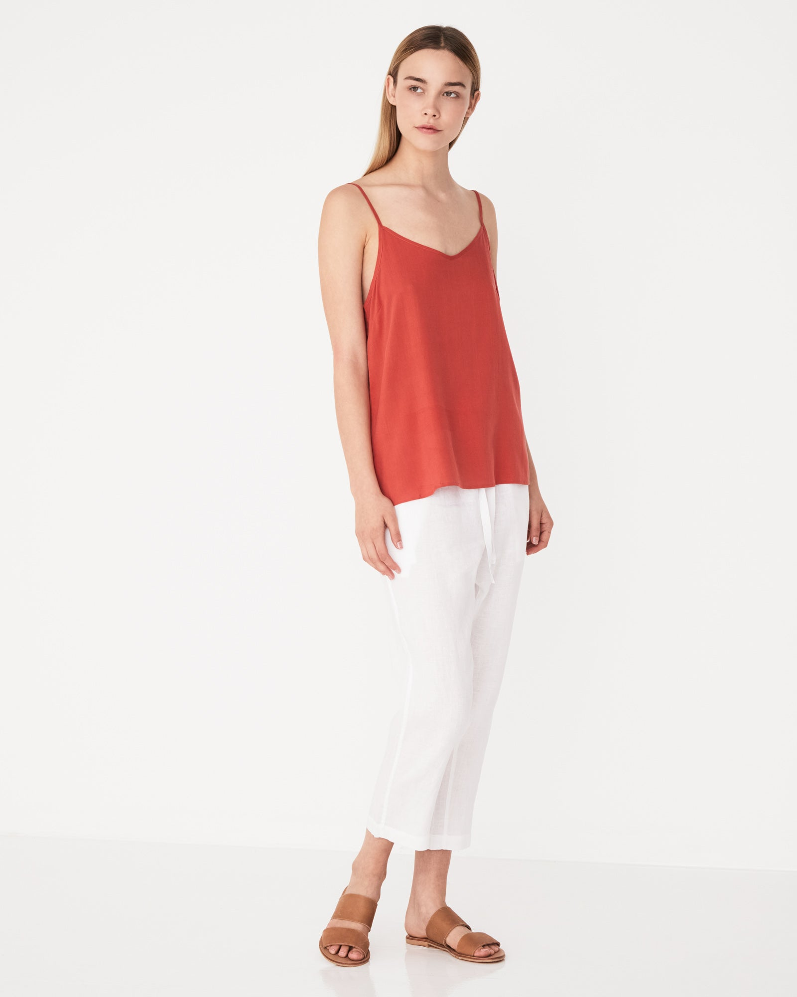 Silk Slip Top Brick