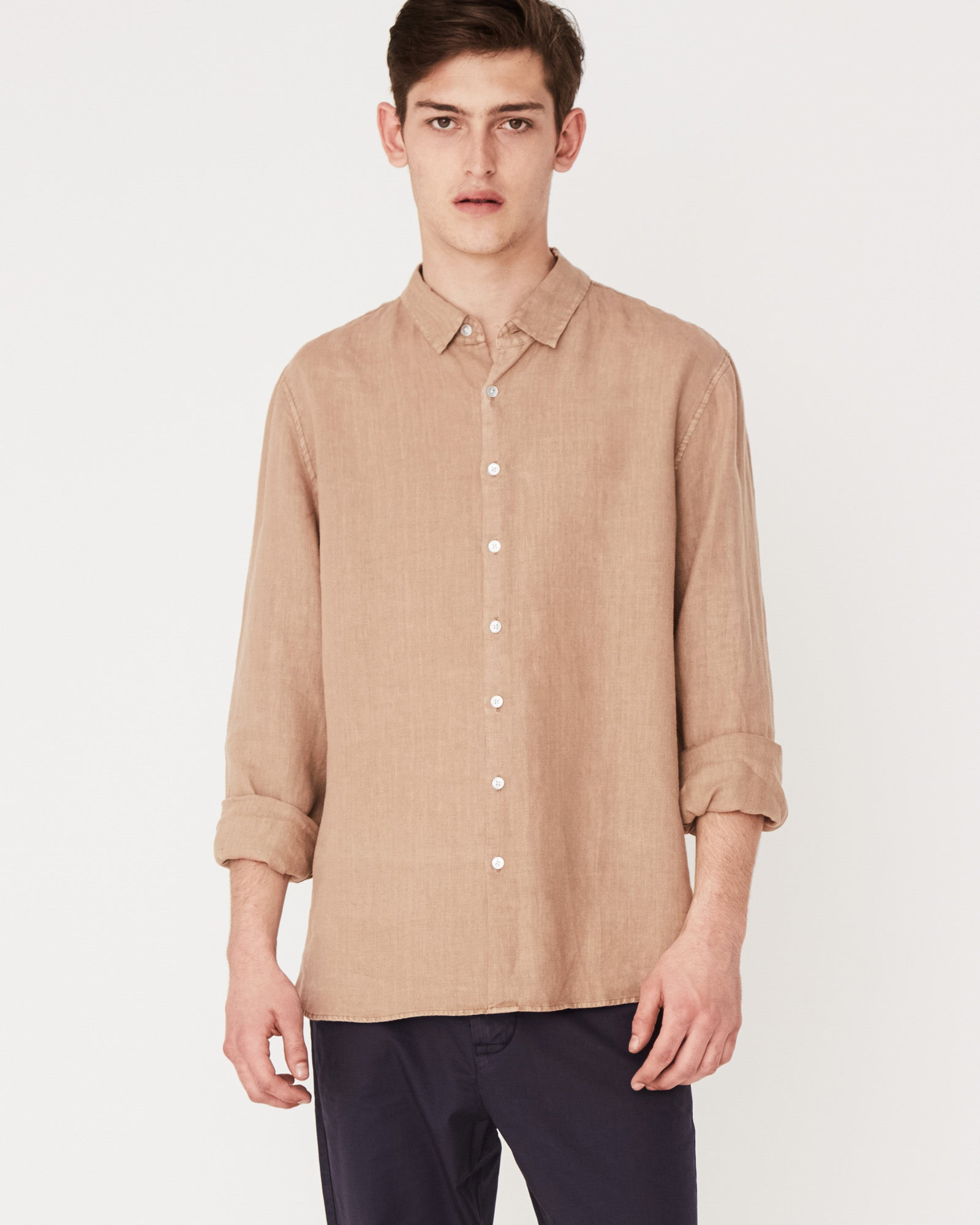 Casual Long Sleeve Shirt Sandstone