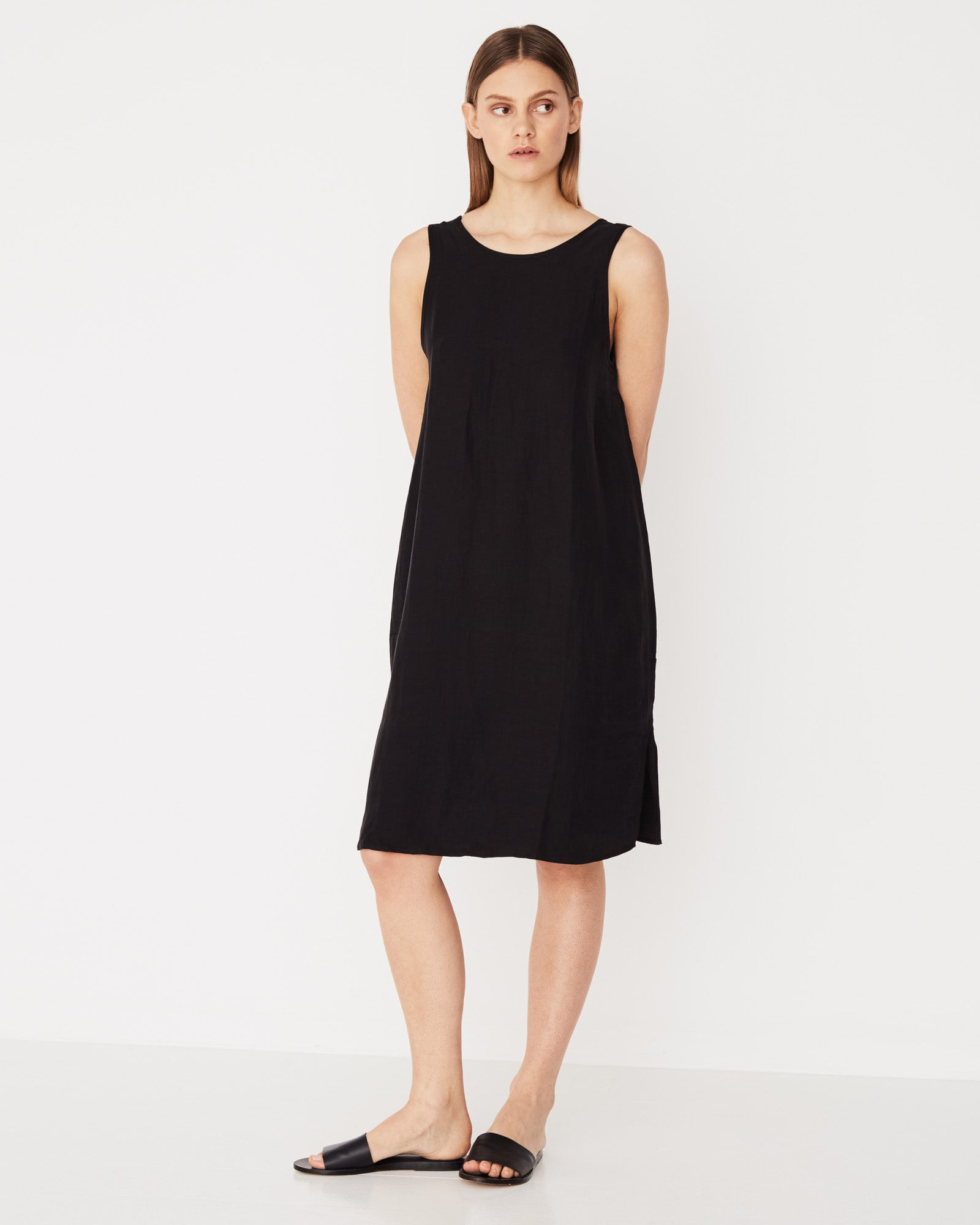Contrast Dress Black