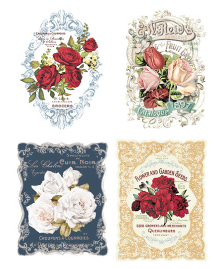 Redesign with Prim Rub On Transfers - Wild Roses - 4 designs - (Retiring)