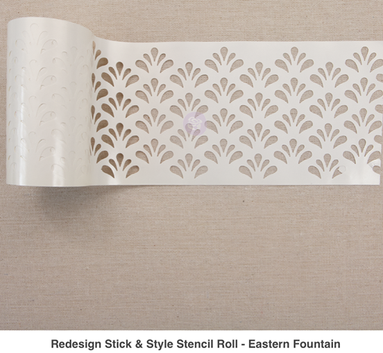 Redesign with Prima Stick & Style Stencils - Eastern Fountain
