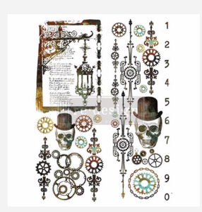 Redesign with Prima Rub On Transfers - Steampunk 56 x 76.2cm (retiring)