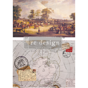 Redesign with Prima Rub On Transfers - Distant Traveler 56 x 76.2cm