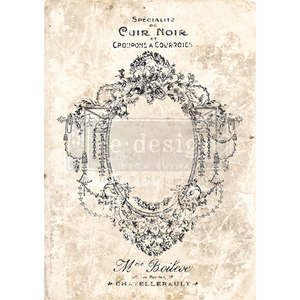 Redesign with Prima Rub On  Transfers - Antique Imprint 60.96 x 86.36cm