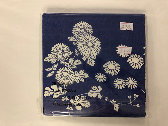 Paper Napkins - Blue and White Daisy NPK031 No.4  20pk