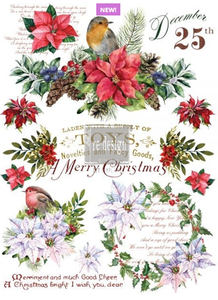 Redesign with Prima Rub On Transfers - Christmas Greetings 58.5cm x 84cm
