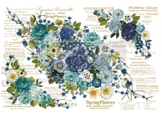 Redesign with Prima Rub On Transfers - Cosmic Roses 112cm x 76cm