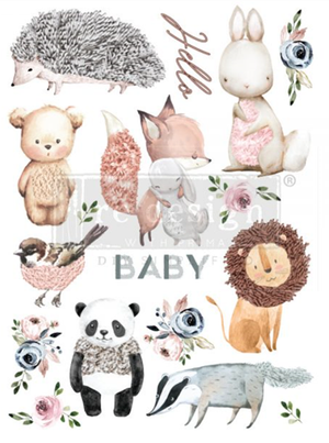 Redesign with Prima Rub On Transfers - Hello Baby 56cm x 76cm