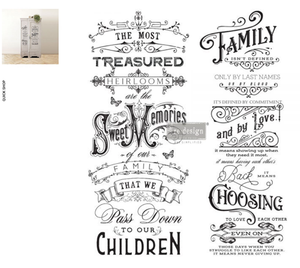 Redesign the Prima Rub On  Transfers - Family Heirlooms 73.66cm x 60.96cm