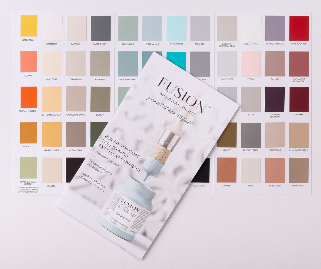 Fusion Mineral Paint - Colour Chart