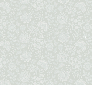 soft blue with white flowers wallpaper