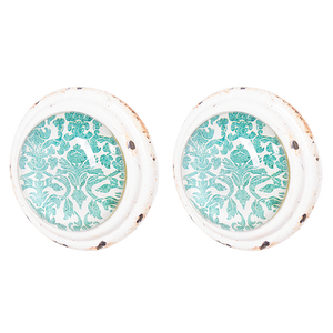 Pulls & Handles - White, teal & Glass