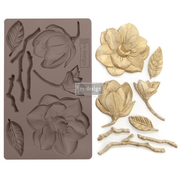Redesign with Prima Moulds - Winter Blooms