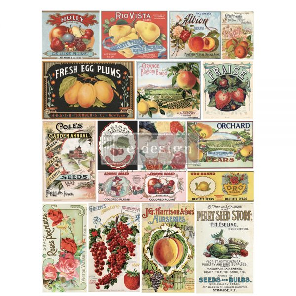 Redesign with Prima rub on transfers - Vintage Seeds