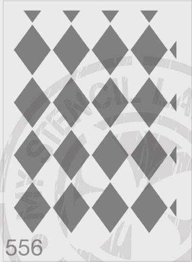 Stencils - Harlequin repeat pattern #556