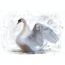 Load image into Gallery viewer, Mint Decoupage Papers - White Swan