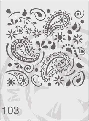 Load image into Gallery viewer, Stencils - Paisley Pattern #103