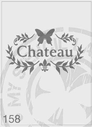 Stencils - Chateau 'Butterfly Wreath' #158