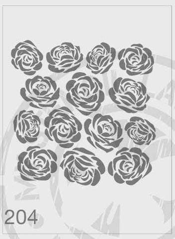 Load image into Gallery viewer, Stencils - Roses #204