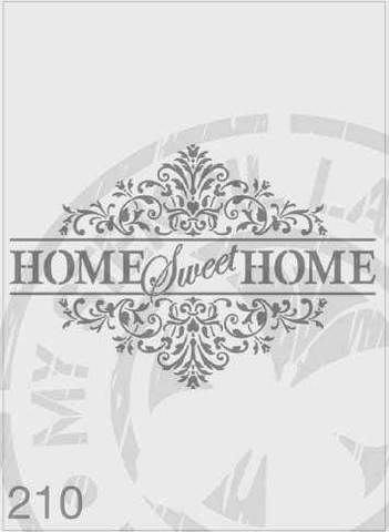 Stencils - Home Sweet Home 'Ornate/Filigree' Word Sign #210