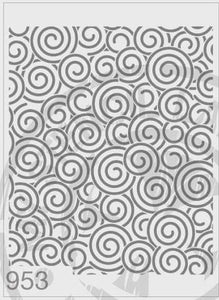 Stencils - Spirals Repeat Pattern #953