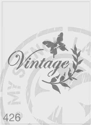 Stencils - Vintage, with butterfly and branch #426