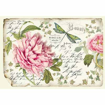 Load image into Gallery viewer, Rice Paper - Peony DFS355